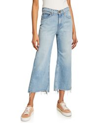 The Great - The Rider Wide-leg Cropped Jeans - Lyst