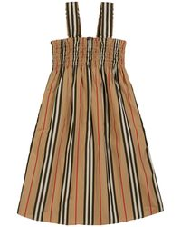 Burberry - Junia Icon Stripe Smocked Sun Dress - Lyst