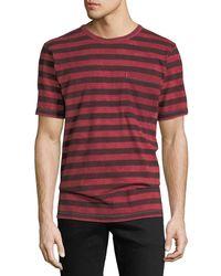 Hudson Jeans - Men's Striped Pocket T-shirt - Lyst