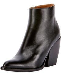 Chloé - Rylee 90mm Block Heel Western Bootie - Lyst