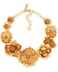 Oscar de la Renta - Blooming Bold Flower Necklace - Lyst