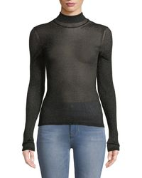Missoni - Lamé Mock-neck Sweater With Contrast Tipping - Lyst