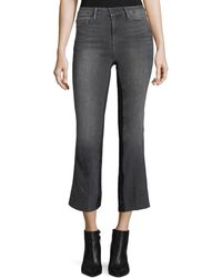 FRAME - Le Crop Mini Boot-cut Gusset Ankle Jeans W/ Raw-edge - Lyst
