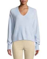 Vince - V-neck Raglan Cashmere Sweater - Lyst