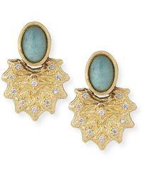 Armenta - Old World 18k Starburst Aquaprasetm Stud Earrings - Lyst