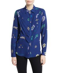 Novis - Waterford Button-front Layered Silk Blouse - Lyst