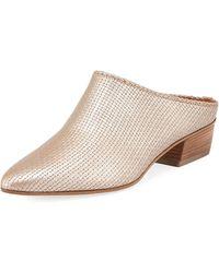 Aquatalia - Fife Leather Block-heel Mule - Lyst