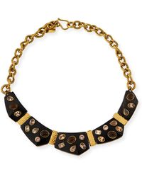 Ashley Pittman - Dola Dark Horn Statement Necklace - Lyst