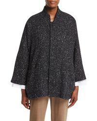 Eskandar - Slope-shoulder Mandarin-collar Coat - Lyst