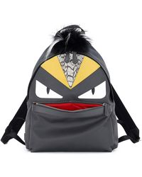 Fendi - Monster Backpack W/watersnake & Fur Details - Lyst