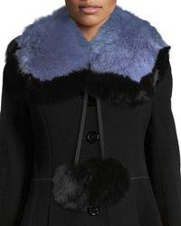 Charlotte Simone - Puffalump Fur Neck Scarf W/ Pompoms - Lyst