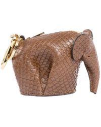Loewe - Snakeskin Elephant Bag Charm/keychain - Lyst