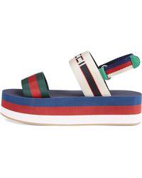 Gucci - Colorblock Platform Sandals - Lyst