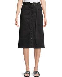 Elizabeth and James - Merritt Slub Denim A-line Skirt - Lyst