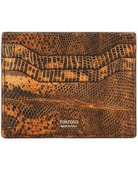 Tom Ford - Lizard Leather Card Case - Lyst