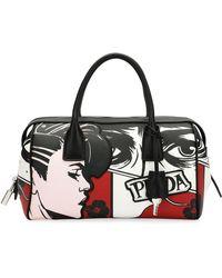 Prada - Comic Face Grace Lux Duffel Bag - Lyst