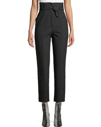 Rag & Bone - Wallace High-rise Belted Straight-leg Pants - Lyst