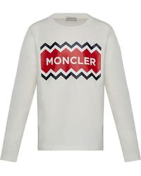 7a36c62e157f Lyst - Men s Moncler Long-sleeve t-shirts On Sale