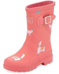 Joules - Llama Rubber Rain Boot - Lyst