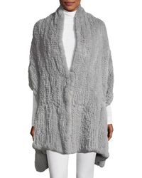 Halston - Convertible Fur Wrap - Lyst
