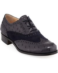 Gravati - Two-tone Wing-tip Oxfords - Lyst