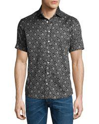 Etro | Forest-print Short-sleeve Cotton Shirt | Lyst