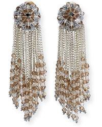 Oscar de la Renta - Chain Cluster Beaded Earrings - Lyst