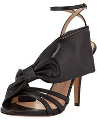 Valentino Large Bow Leather Sandal