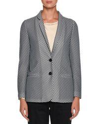 Giorgio Armani - Diagonal-stripe Jersey Jacquard Two-button Jacket - Lyst