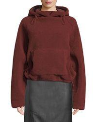 Vince - Cozy Drawstring Pullover Hoodie Sweatshirt - Lyst