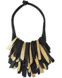 Urban Zen - Fringed Leather Necklace - Lyst