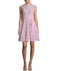 Giambattista Valli - Sleeveless A-line Lace Dress - Lyst