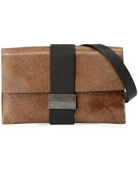Brunello Cucinelli - Stardust Leather Crossbody Bag - Lyst