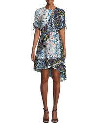 Tanya Taylor - Siena Floral Vines High-low Dress - Lyst