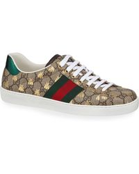 79d6ab3417f Lyst - Gucci Ace Bee Jacquard Low-top Sneaker in Blue for Men