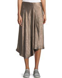 Vince - Bias-cut Asymmetric Midi Skirt - Lyst