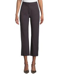 See By Chloé - Striped Straight-leg Trousers - Lyst