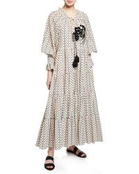 c142a6cf39 Figue - Bella Long-sleeve Dot Print Tiered Dress - Lyst