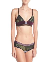 Xirena - The Boys Are Back Gisele Camouflage Bralette - Lyst