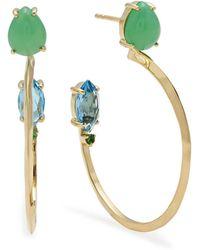 Ippolita - 18k Prisma Three-stone Hoop Earrings In Portofino - Lyst