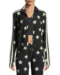 Norma Kamali - Star-print Side Stripe Turtle Jacket - Lyst