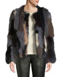 Belle Fare - Multicolor Fox Fur Jacket - Lyst
