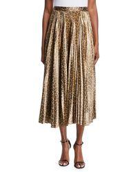 A.L.C. - Bobby Leopard-print Pleated Midi Skirt - Lyst