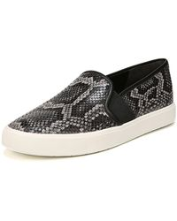 Vince - Women's Blair-5 Snake-print Leather Slip-on Trainers - Lyst