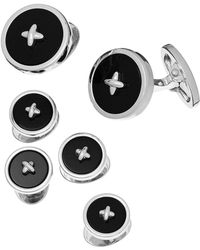 Jan Leslie - Classic Button Onyx Cufflinks & Studs Set - Lyst