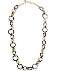 Ashley Pittman - Shauri Dark Horn Link Necklace - Lyst