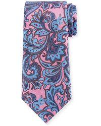 Ermenegildo Zegna - Large Paisley Silk Tie - Lyst