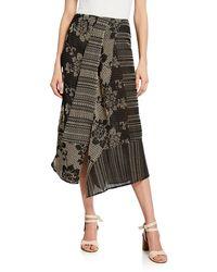 Zero + Maria Cornejo - Cross-stitch Embroidered Maxi Skirt - Lyst