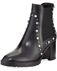 Jimmy Choo - Burrow Studded Block-heel Boot - Lyst