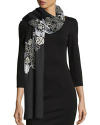 Janavi - Half Circle Chantilly Lace Stole - Lyst